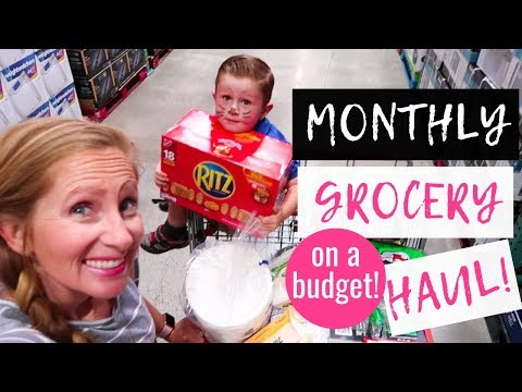 June 2019 Monthly Grocery Haul on a Budget | Costco Haul & Target Grocery Pick Up!!!!