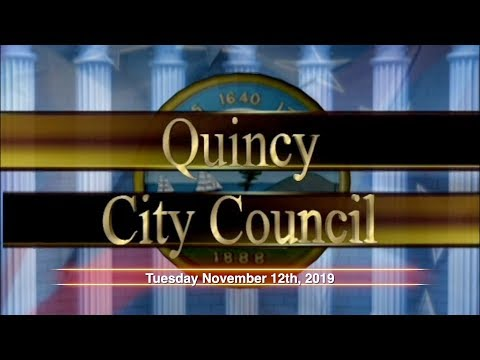 Quincy City Council - November 12th, 2019