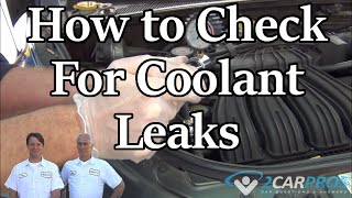 Cooling System Pressure Test For Leaks