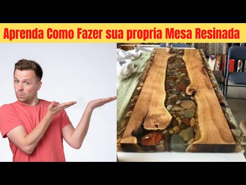curso mesas resinadas ja training - mesa de madeira com resina epxi - ja training