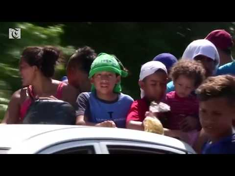 Migrant caravan resumes march to the U.S.