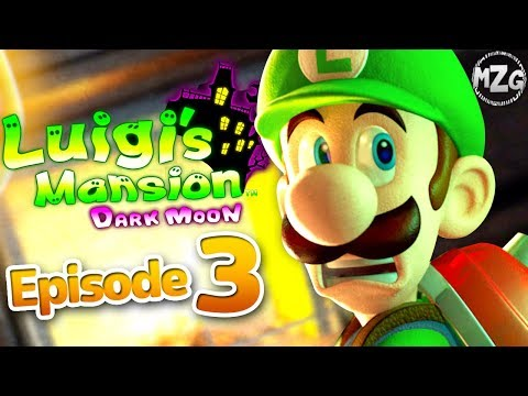 Luigi's Mansion Dark Moon Gameplay Walkthrough Part 3 - A-3 Quiet Please! Gloomy Manor!