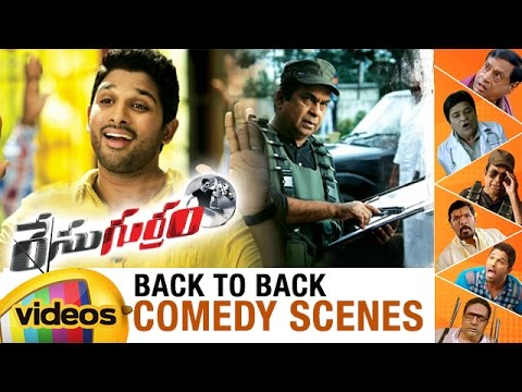 Race Gurram Telugu Movie | Back to Back Comedy Scenes | Allu Arjun | Shruti Haasan | Brahmanandam
