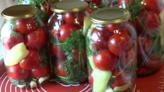 Маринованные Помидоры на Зиму.СУПЕРВКУСНЫЙ маринад. Рецепт/Marinated tomatoes