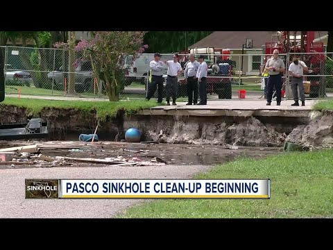 Sinkhole clean up expected this week