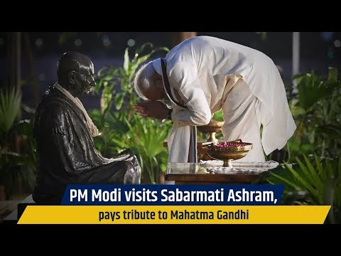 PM Modi visits Sabarmati Ashram, pays tribute to Mahatma Gandhi