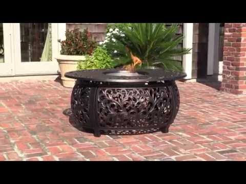 Fire Sense Toulon Cast Aluminum Fire Pit Table