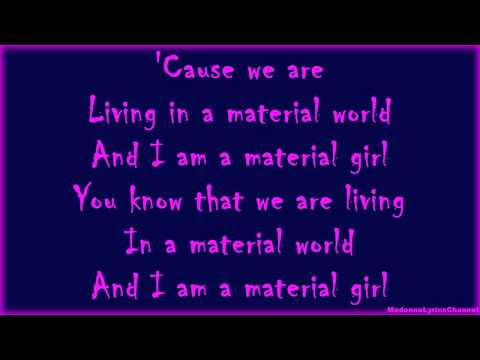 Madonna - Material Girl (Lyrics On Screen)