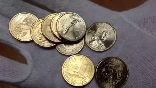 Время почты #5. Монеты Приднестровья (композитный материал), юбилейные 5, 25 центов, 1 $