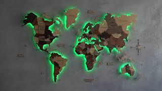 LED WORLD MAP INSTRUCTION