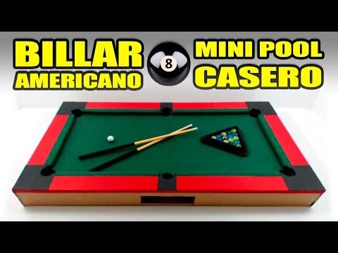 MINI POOL o BILLAR AMERICANO - Increíble juguete casero