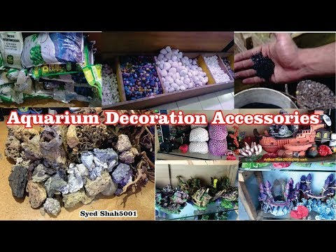 Types of Aquarium accessories gravel driftwood decoration items for your Aquariums