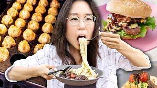 Weekend Night Market 🍔 Street Food in Korea