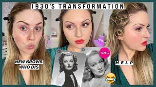 *decades Series* 💕 1930s Makeup Look 💃 Fail.. My Hair... I Cant
