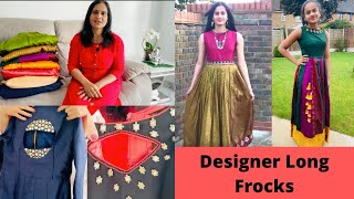 Designer Long Dresses In Telugu