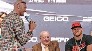 'The Gypsy King' Tyson Fury vs Tom Schwarz * FULL FINAL PRESS CONFERENCE * in Las Vagas