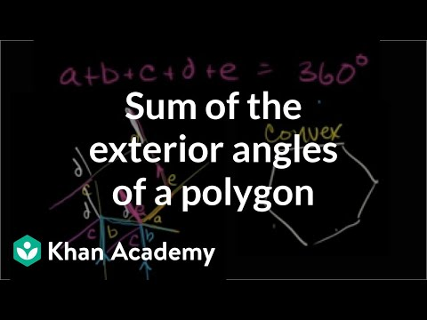 Sum of the exterior angles of a polygon (video) | Khan Academy
