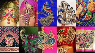 Peacock Designs Images For Hands | Maggam Work Blouse Designs For Hands | Aari Work For Hands