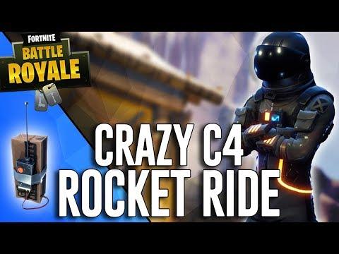 Crazy C4 Rocket Ride!! - Fortnite Battle Royale Highlights - Ninja