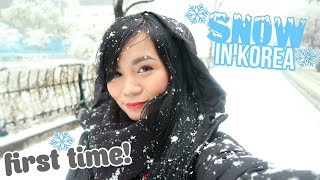 THE PERFECT TIME TO SEE SNOW IN SOUTH KOREA!! | Trip to Korea Vlog