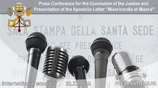"""Press Conference for the Conclusion of the Jubilee and Presentation of the """"Misericordia et Misera"""""""