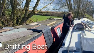 Drifting Boat On The Oxford Canal & Oak Doors