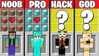 Minecraft Battle: GIRL CRAFTING CHALLENGE - NOOB vs PRO vs HACKER vs GOD in Minecraft Animation