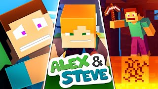 The Minecraft Life of Alex and Steve | MOVIE 4 | Minecraft Animation