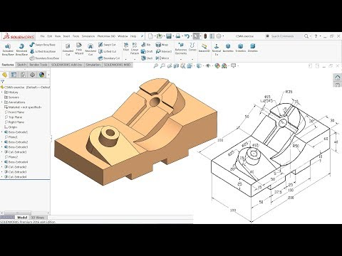 Certified Solidworks Associate (CSWA) exam exercise - YouTube