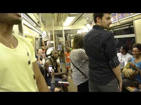 Spektakulær overraskelse på t-banen