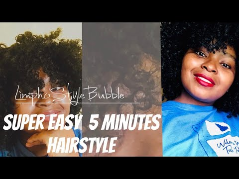 Super Easy 5 Minutes Hairstyle | Curly Protective Hairstyle | Lazy Natural Hairstyle