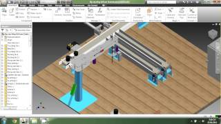 Video Mô phỏng Robot bằng Inventor