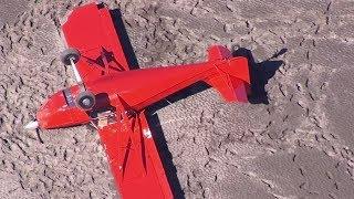 «Испытывал технические возможности»: американец перевернул самолёт при посадке на песок