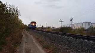 2ТЭ10МК-0694 с грузовым поездом на перегоне Уральск - Жилаево