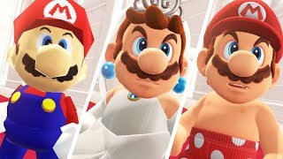 Super Mario Odyssey - All Bowser Reactions to Mario's Costumes