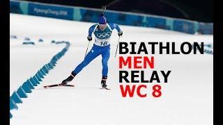 BIATHLON MEN RELAY 18.03.2018 World Cup 8 Holmenkollen (Norway)
