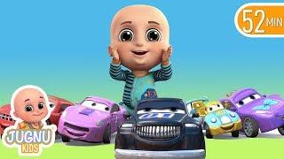 Car Videos | Racing Car Family | Nursery Rhymes Compilation from Jugnu Kids