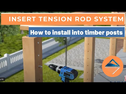 How To Install Wire Balustrade - Insert Tension Rod System