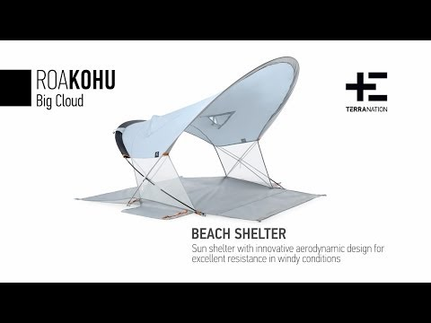 The Roakohu beach tent by Terra Nation at the beach