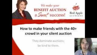 Silent Auction Tip: Make Friends With The 40+ Crowd For Bigger Bids