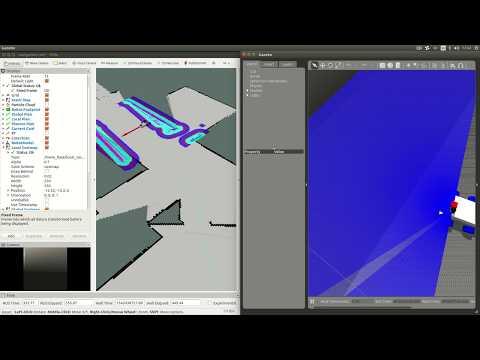 Rosbee Robot Simulation (SLAM Gmapping in Gazebo) - смотреть