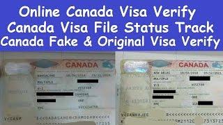 Online and Offline Canada Visa Verify l Canada Visa Application Tracking l Online Canada Visa File