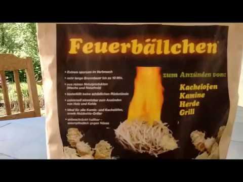 Grillanzünder Test Feuerbällchen Holzwolle+Wachs mit Fazit