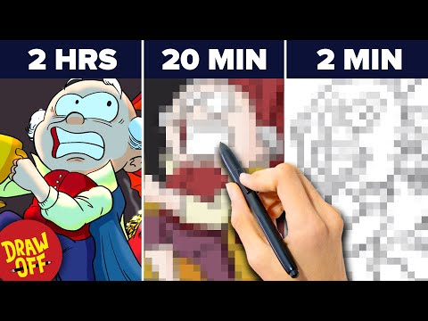 We Try Drawing The Hobbit In 2 Hours, 20 Minutes & 2 Minutes •Draw-Off