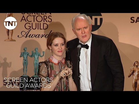 John Lithgow & Claire Foy: Press Room Q&A | 23rd Annual SAG Awards | TNT
