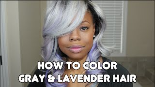 How to Color your Hair Silver, Gray and Lavender | LozosVirginHair | MariaAntoinetteTV
