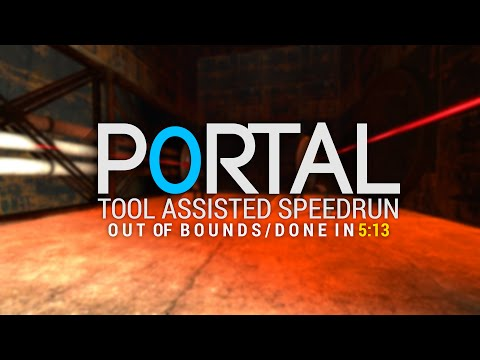 Portal completed in 5:13 by a computer playing perfectly.