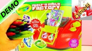 Melt'n Mold Factory Crayola - pierścionki ze świecówek unboxing