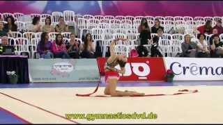 preview picture of video 'Grand-Prix Holon 2013 - Junior - 02 - Hanna Bazhko - Ribbon'