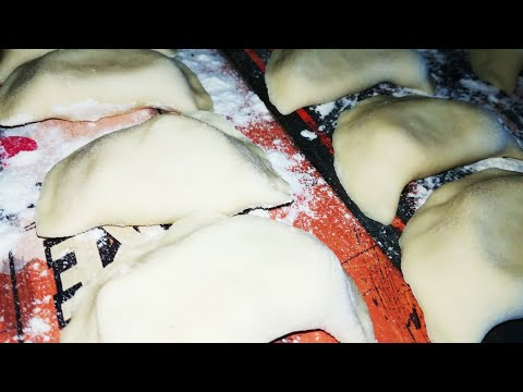 Вареники с картошкой.Как лепить вареники.Вкусное тесто на ВАРЕНИКИ.